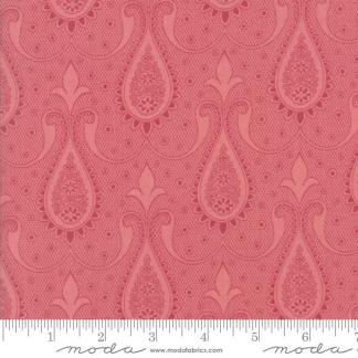 Sweet Blend Fabric - Moda Fabric - Half Yard - Floral Reproduction Paisley Pink Edyta Sitar Laundry Basket Quilts 42293 17