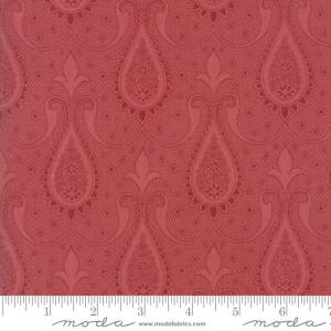 Sweet Blend Fabric - Moda Fabric - Half Yard - Floral Reproduction Paisley Rosemary Red Edyta Sitar Laundry Basket Quilts 42293 16