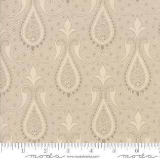 Sweet Blend Fabric - Moda Fabric - Half Yard - Floral Reproduction Paisley Tan Tonal Edyta Sitar Laundry Basket Quilts 42293 14