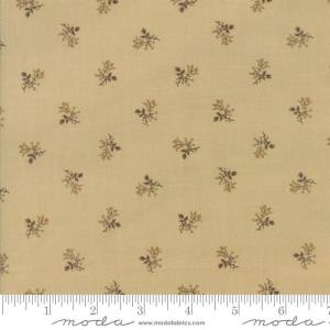 Sweet Cherry Wine Fabric - Moda Fabric - Half Yard - Floral Shirting Tan with Taupe Brown Gold Blackbird Designs Fabric 2785 26