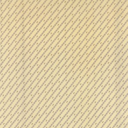 Wild Orchid Lady Slipper - Half Yard - Moda Fabric Diagonal Stripes Natural Cream White with Purple Blackbird Designs Quilt Fabric 2777 22