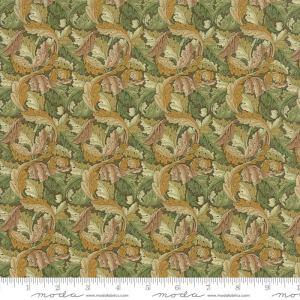 William Morris 2017 Fabric - Half Yard - Moda Reproduction Fabric Acanthus Leaves 1875 Sage Light Green Victoria & Albert Museum 7304 13