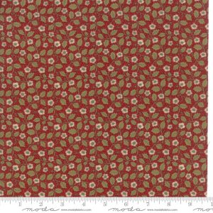 William Morris 2017 Fabric - Half Yard - Moda Reproduction Fabric Large Scale Floral Christ Church 1882 Garnet Red V & A Museum 7305 14