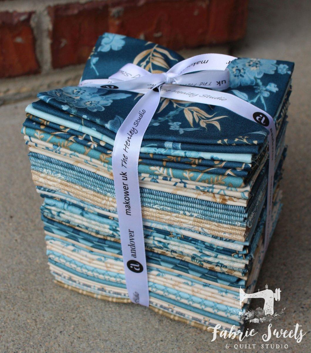 Something Blue Fat Quarter Fabric Bundle Andover Fabric