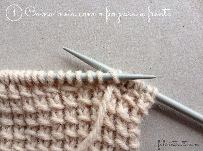 tricot em cachecol