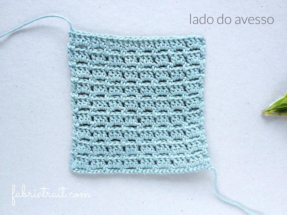 Pontos de Crochet - Ponto Tijolo 2   ponto tijolo