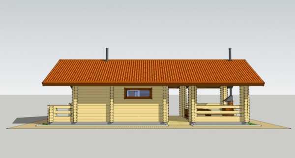 Проект бани с комнатой отдыха фото – строения с террасой ...