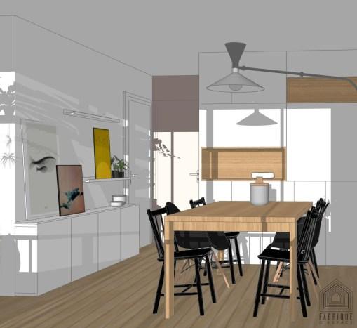 mobilier sur mesure agence fabrique d'espace à bordeaux, décoration , agencement, conception, étude florence quissolle bordeaux
