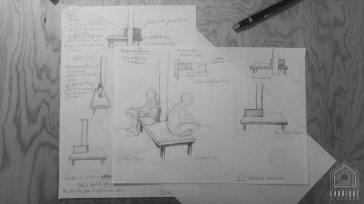 dessin croquis architecte d'intérieur bordeaux décoratrice bordeaux