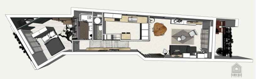 Plan général // Appartement LA GARENNE COLOMBES