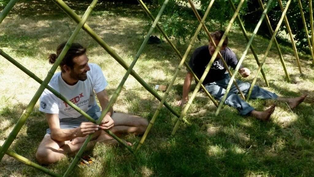Flex Yourte - assemblage bambous