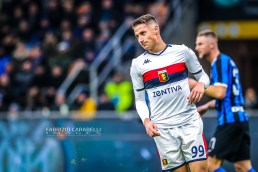 Andrea Pinamonti of Genoa CFC during the Serie A match between FC Internazionale and Genoa CFC at the San Siro Stadium, Milan, Italy on 21 December 2019 - Photo Fabrizio Carabelli