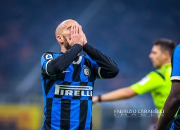 Borja Valero of FC Internazionale during the Serie A match between FC Internazionale and Atalanta BC at the San Siro Stadium, Milan, Italy on 11 January 2020 - Photo Fabrizio Carabelli