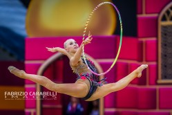 Baku, Azerbaijan - 09/19/2019: FIG Rhythmic Gymnastics World Championships 2019 Baku (AZE) - MOUSTAFAEVA (FRA)