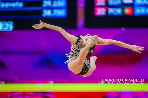 Baku, Azerbaijan - 09/19/2019: FIG Rhythmic Gymnastics World Championships 2019 Baku (AZE) - DINA AVERINA (RUS)