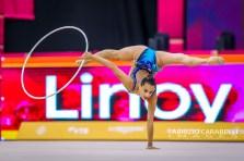 Baku, Azerbaijan - 09/19/2019: FIG Rhythmic Gymnastics World Championships 2019 Baku (AZE) - ASHRAM (ISR)