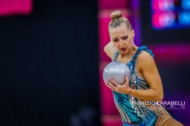 Baku, Azerbaijan - 09/19/2019: FIG Rhythmic Gymnastics World Championships 2019 Baku (AZE) - BOGDANOVA (EST)