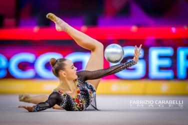 Baku, Azerbaijan - 09/19/2019: FIG Rhythmic Gymnastics World Championships 2019 Baku (AZE) - GERGALO (FIN)
