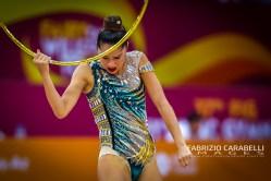 Baku, Azerbaijan - 09/19/2019: FIG Rhythmic Gymnastics World Championships 2019 Baku (AZE) - AGIURGIUCULESE (ITA)