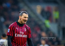 Zlatan Ibrahimovic of AC Milan during the Serie A 2019/20 match between AC Milan vs Torino FC at the San Siro Stadium, Milan, Italy on February 17, 2020 - Photo Fabrizio Carabelli