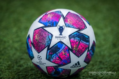 Official Championship ball during the Champions League 2019/20 match between Atalanta BC vs Valencia CF at the San Siro Stadium, Milan, Italy on February 19, 2020 - Photo Fabrizio Carabelli