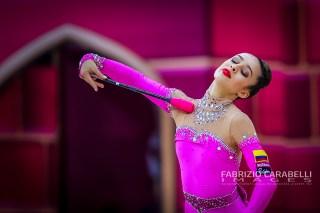 Baku, Azerbaijan - 09/19/2019: FIG Rhythmic Gymnastics World Championships 2019 Baku (AZE) - Dussan (COL)