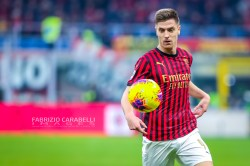 Krzysztof Piatek of AC Milan during the Serie A match between AC Milan and US Sassuolo at the San Siro Stadium, Milan, Italy on 15 December 2019 - Photo Fabrizio Carabelli