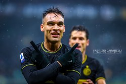 Lautaro Martínez of FC Internazionale during the Serie A match between FC Internazionale and Spal at the San Siro Satdium, Milan, Italy on 01 December 2019. Photo Fabrizio Carabelli