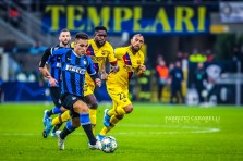 Lautaro Martinez of FC Internazionale during the Champions League match between FC Internazionale and FC Barcelona at the San Siro Stadium, Milan, Italy on 10 December 2019. Photo Fabrizio Carabelli