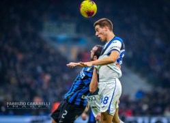 Robin Gosens of Atalanta BC and Diego Godin of FC Internazionale during the Serie A match between FC Internazionale and Atalanta BC at the San Siro Stadium, Milan, Italy on 11 January 2020 - Photo Fabrizio Carabelli