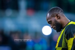 Romelu Lukaku of FC Internazionale during the Champions League match between FC Internazionale and FC Barcelona at the San Siro Stadium, Milan, Italy on 10 December 2019. Photo Fabrizio Carabelli