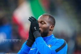 Romelu Lukaku of FC Internazionale during the Serie A match between FC Internazionale and AS Roma at the San Siro Satdium, Milan, Italy on 06 December 2019. Photo Fabrizio Carabelli