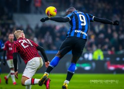 Romelu Lukaku of FC Internazionale scores goal during the Serie A match between FC Internazionale and AC Milan at the San Siro Stadium, Milan, Italy on 09 February 2020 - Photo Fabrizio Carabelli