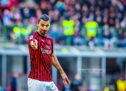 Zlatan Ibrahimovic of AC Milan during the Serie A 2019/20 match between AC Milan vs Udinese Calcio at the San Siro Stadium, Milan, Italy on January 19, 2020 - Photo Fabrizio Carabelli