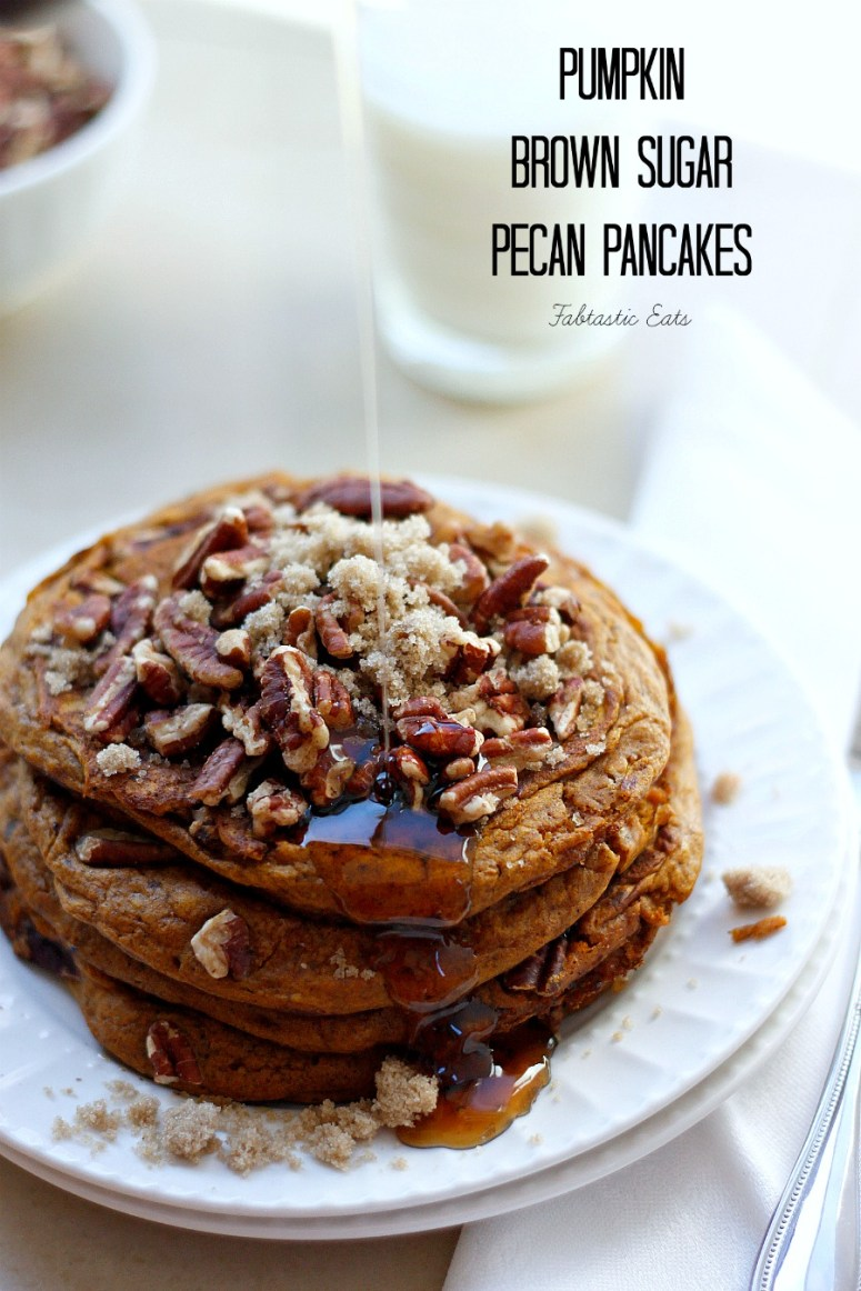 Pumpkin Brown Sugar Pecan Pancakes | Fabtastic Eats