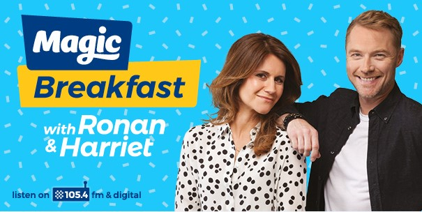 Ronan Keating and Harriet Scott Ring in Second Week of Brand New Magic Radio Breakfast Show 1