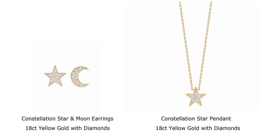 Constellation Star & Moon Earrings