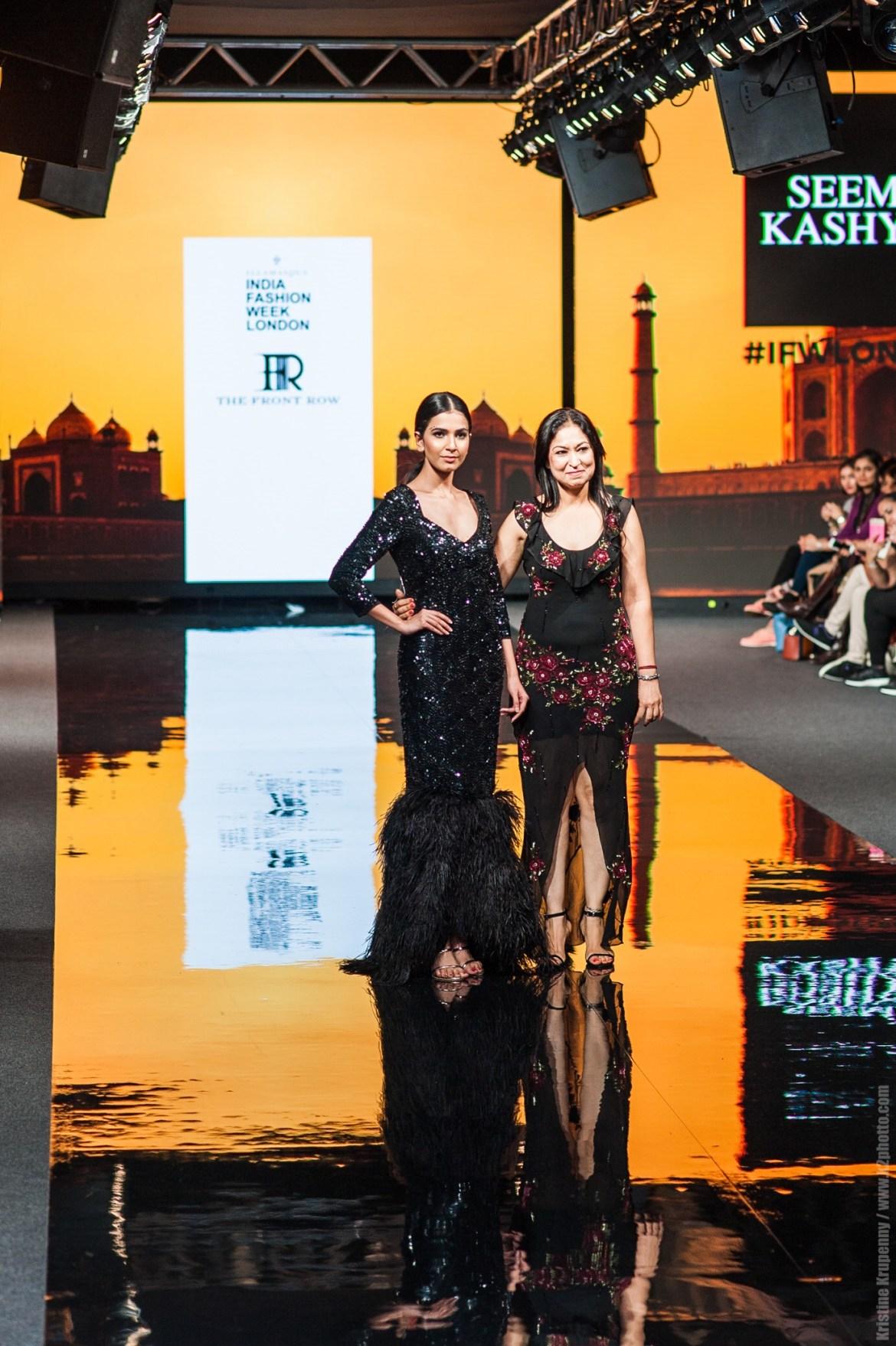 MIss India Elite Bhavyata Sharma With Designer Seema Kashyap (1)