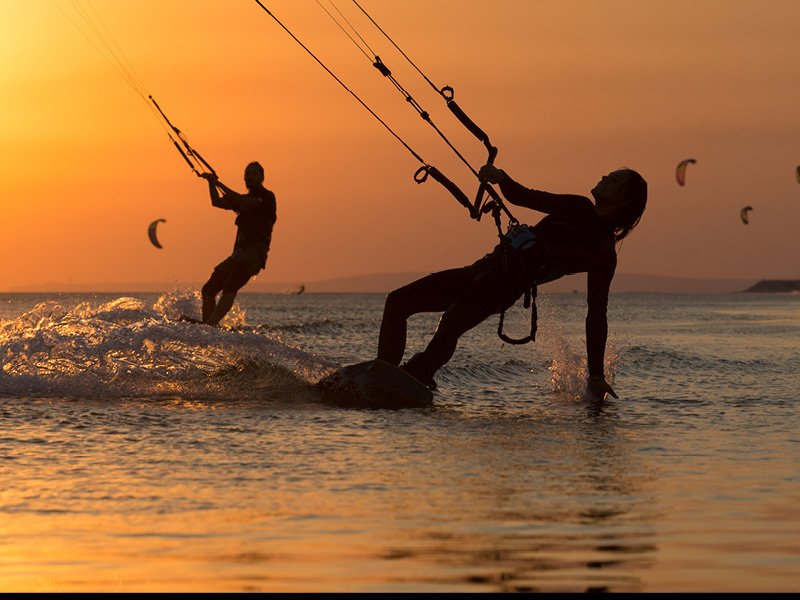 Boating Watersports Kite Surfers