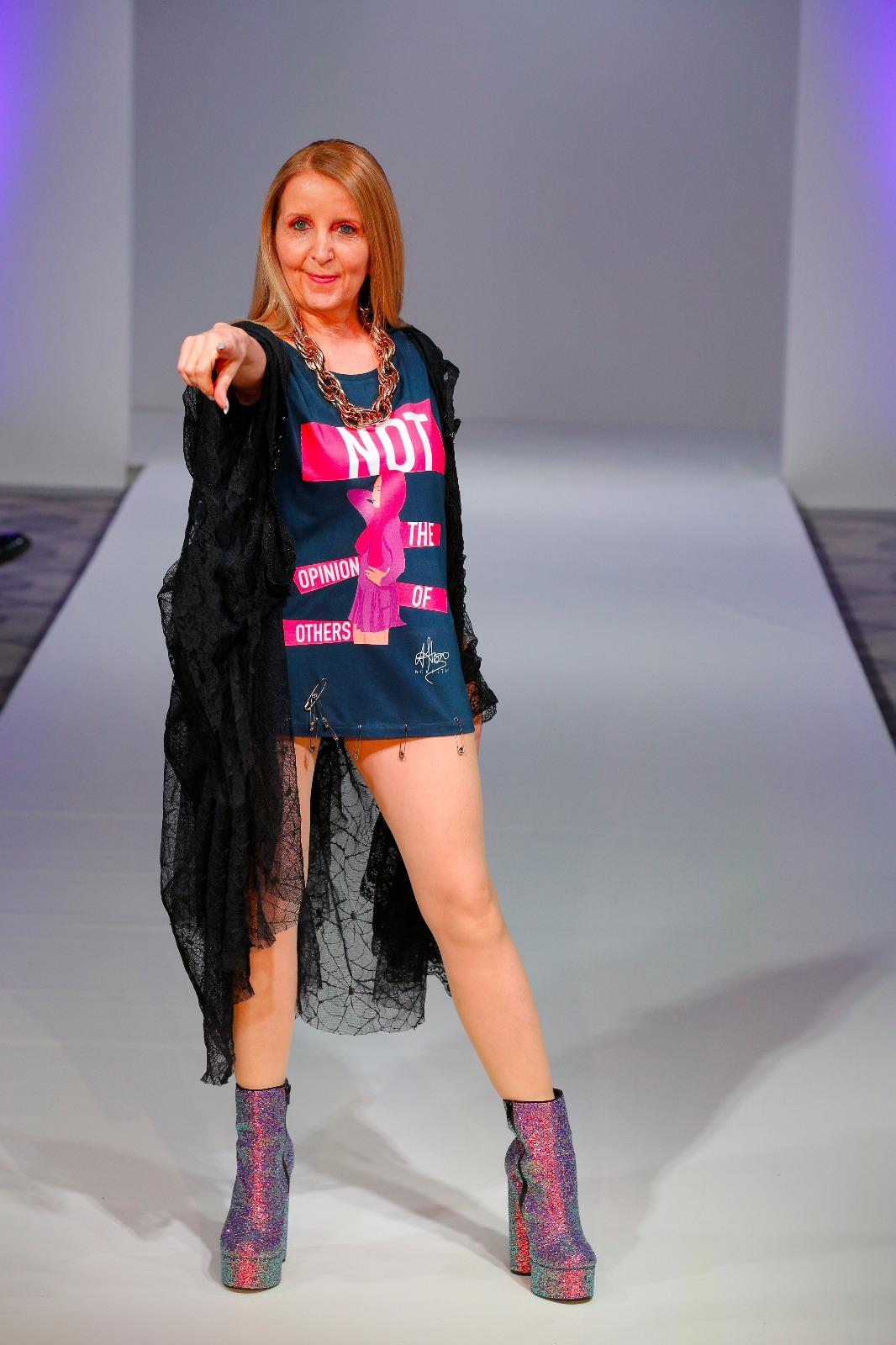 Gillian McKeith at London Fashion Week 2018