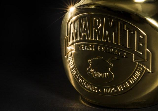 GOLD MARMITE JAR