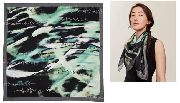 Lucy hall design midnight silk scarf