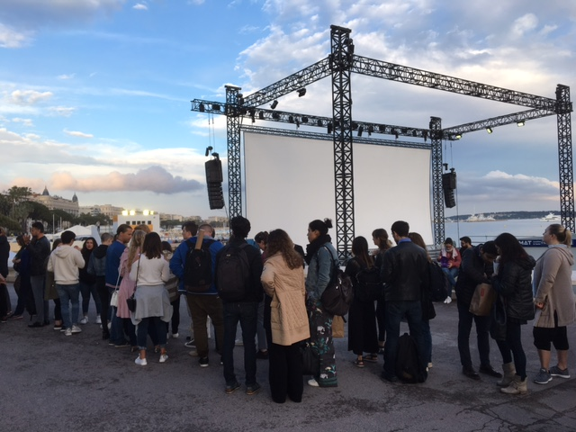 Cinema la plage beach screening