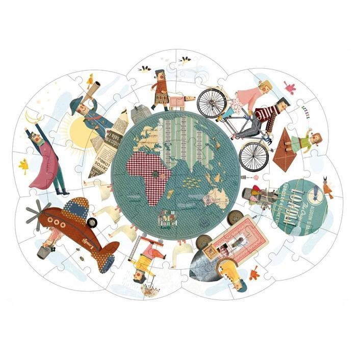 Londji around my planet reversible puzzle londji yellow octopus 30780504266 2000x2000