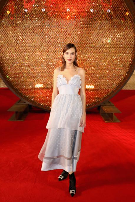Alexa chung attends the british fashion awards 2017 in partnership with swarovski (darren gerrish, british fashion council)