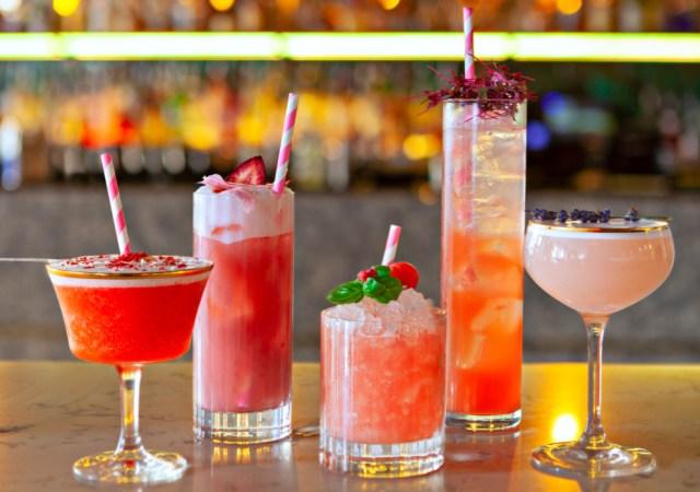 Group summer cocktails