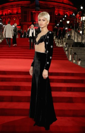 Zendaya attends the british fashion awards 2017 in partnership with swarovski (british fashion council)
