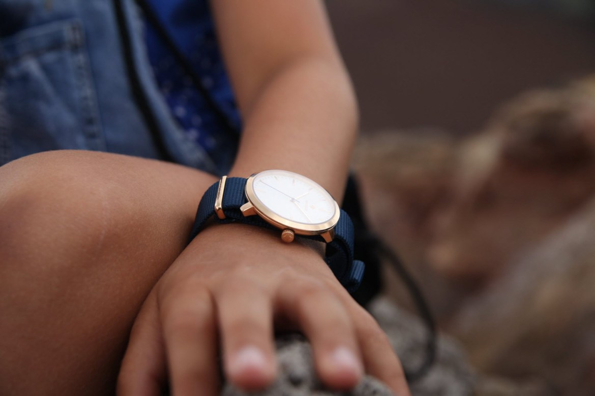 Jean jacob rose gold blue nato