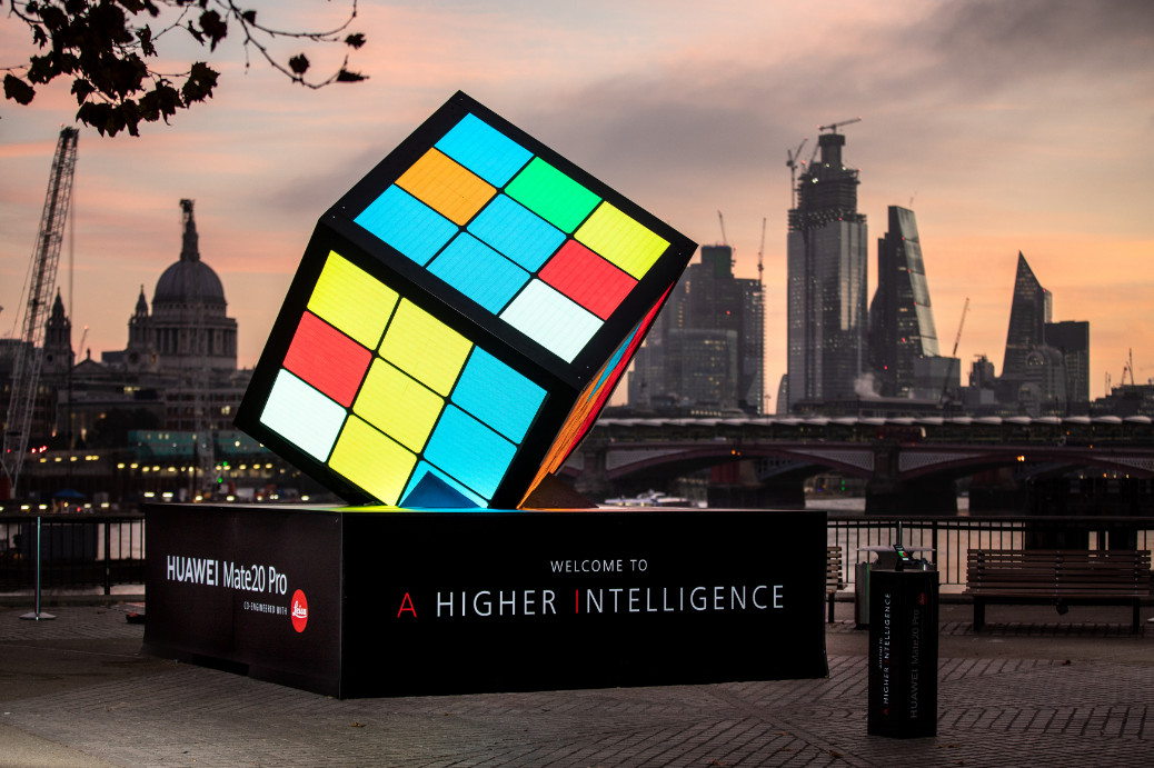 Huawei Unveils Giant AI-Powered Rubik's Cube on London's ...