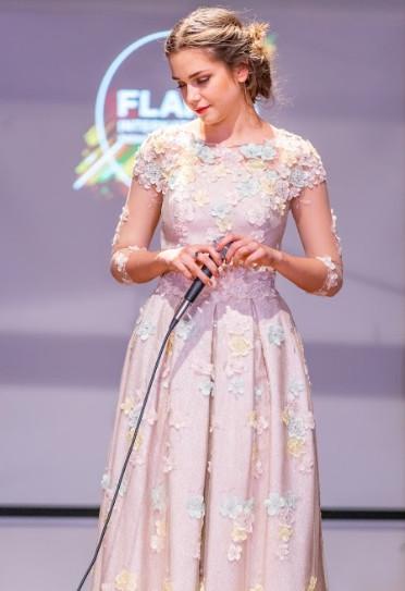 Singer viktoria shcharbitskaya dress by oksana kalinina